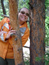 Carrie from tree - Climbing Colorado trails